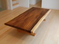 モンキーポッド一枚板リビングテーブル