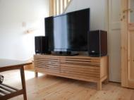 オーク材格子TVボード