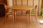 天然木・無垢の円・円卓・サークルテーブル