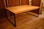 無垢アイアン鉄脚テーブル
