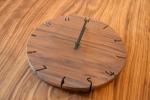 ウォールナット 天然木時計