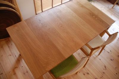 天然木 無垢 ホワイトオーク ダイニングテーブル
