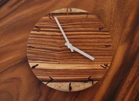 天然木の時計 ゼブラ