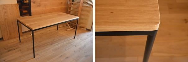 テーブル円柱脚