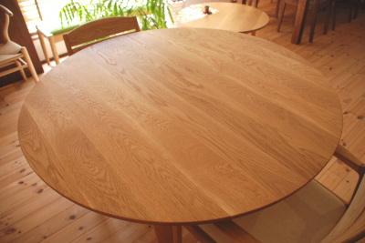天然木・無垢・円テーブル・円卓・サークルテーブル