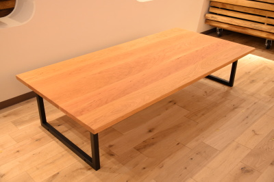 天然木・無垢×アイアン 鉄 テーブル
