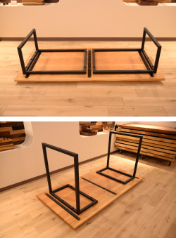 天然木・無垢×鉄・アイアンテーブル