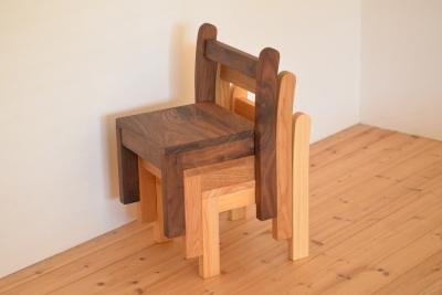 無垢の子供椅子 ロッキングタイプ
