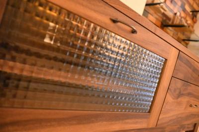 古材風仕上げウォールナットテレビボード