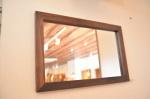 無垢壁掛け鏡(ミラー)ブラックウォールナット