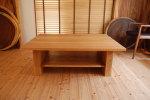 棚板付きローテーブル