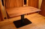 無垢アイアン脚テーブル/インダストリアル|昇降テーブル