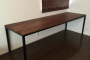 無垢ウォールナットアイアン脚テーブル01