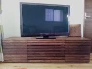 ウォールナット格子扉TVボード