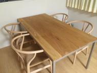 アイアン脚 一体型テーブル