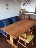 無垢チェリーソファーテーブル