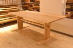 タモ2本脚テーブル