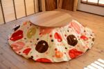 無垢こたつ|無垢オーダー家具|丸型|ホワイトオーク材