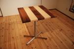 無垢アイアン脚テーブル|無垢オーダー家具|カフェテーブル