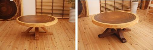 一枚板木製脚