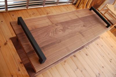 天然木・無垢×アイアンテレビボード
