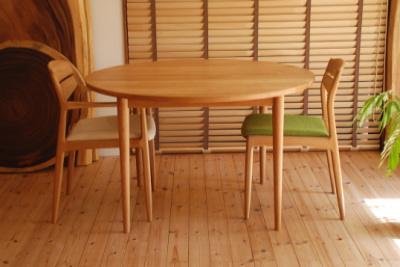 天然木・無垢 円卓 サークル テーブル