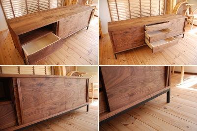 引き戸ウォールナットテレビボード