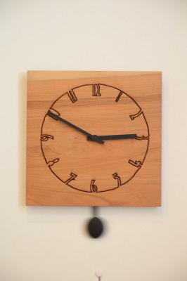 天然木・無垢ブラックチェリー振り子時計