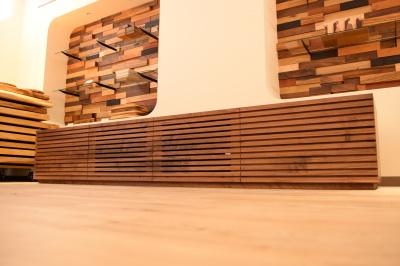天然木・無垢格子テレビボード