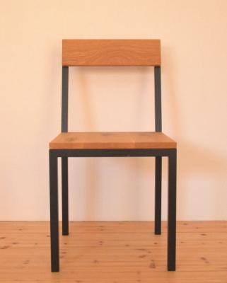 無垢×鉄脚(アイアン)チェア椅子