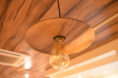 木の照明 一枚板モンキーポッド