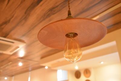 木の照明 一枚板マホガニー