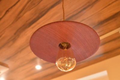 一枚板木の照明パープルハート