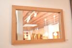 無垢壁掛け鏡(ミラー)オーク
