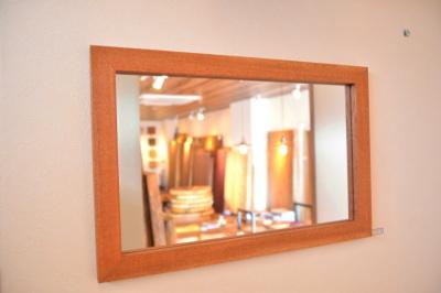 無垢人気壁掛け鏡(ミラー)マホガニー