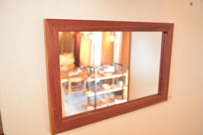 無垢人気壁掛け鏡(ミラー)パープルハート