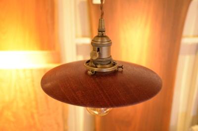 一枚板 木の照明