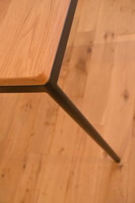 無垢ホワイトオーク材×アイアン脚テーブル
