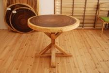 無垢テーブル・モンキーポッド輪切り一枚板木製脚02