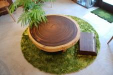 無垢テーブル・モンキーポッド輪切り一枚板木製脚03
