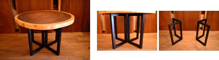 一枚板テーブル用脚 V型