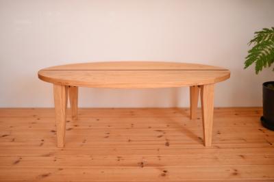無垢ローテーブル(折りたたみ)02
