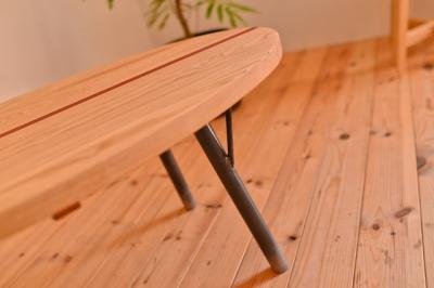 インダストリアル 無垢ローテーブル03