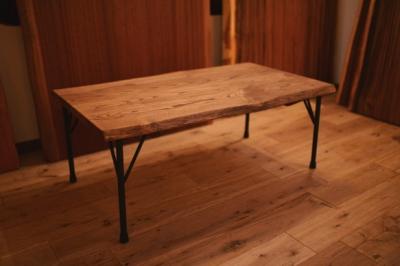 無垢アンティーク仕上げローテーブル01