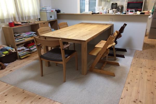 無垢テーブル(クリ材)ダイニングセット