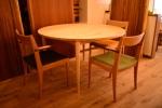 無垢円テーブル
