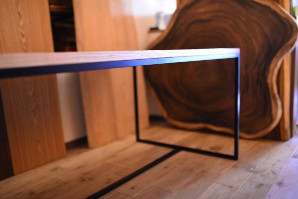無垢×アイアン脚テーブル