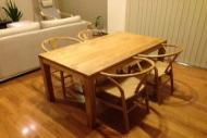無垢オーク材テーブル