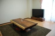 モンキーポッド一枚板テーブル・無垢ウォールナットTVボード
