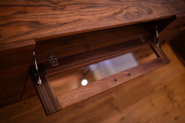 無垢オーダー家具(No.384)ウォールナットハイテレビボード